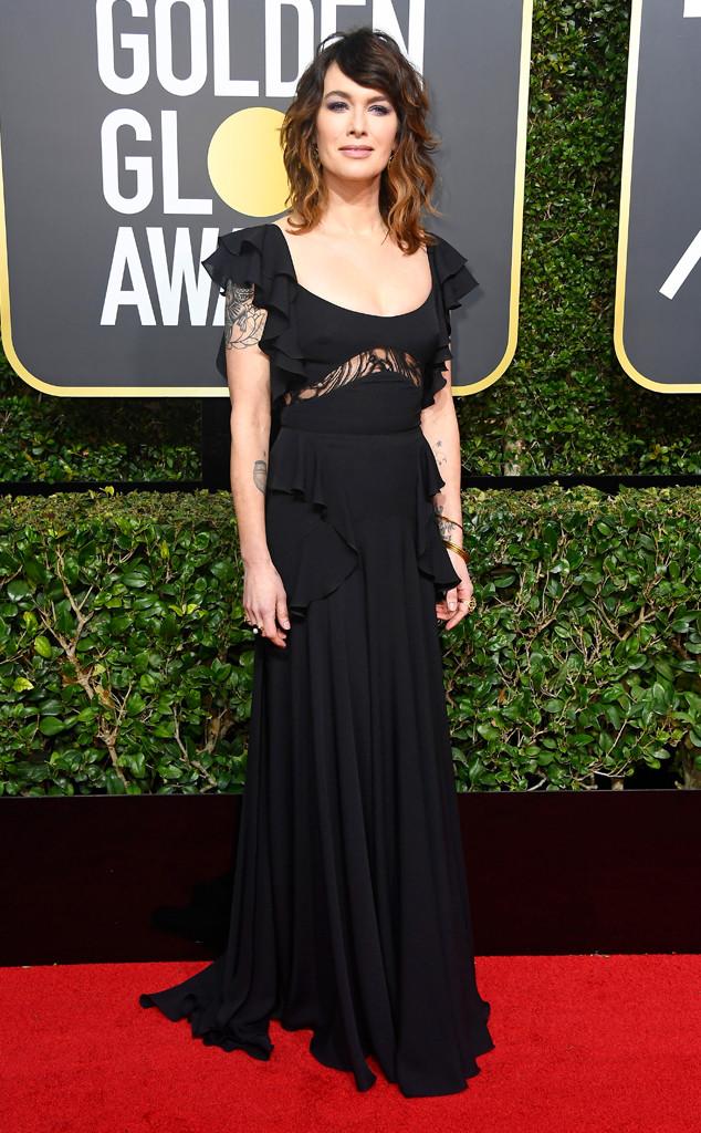 Lena Headey, 2018 Golden Globes, Red Carpet Fashions