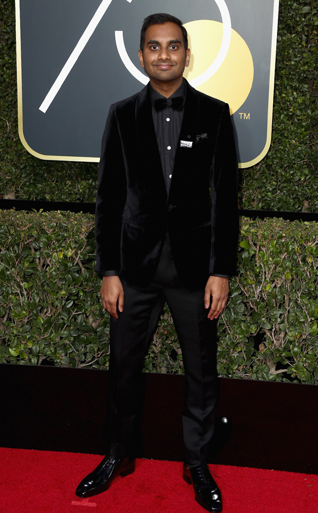Aziz Ansari, 2018 Golden Globes, Red Carpet Fashions