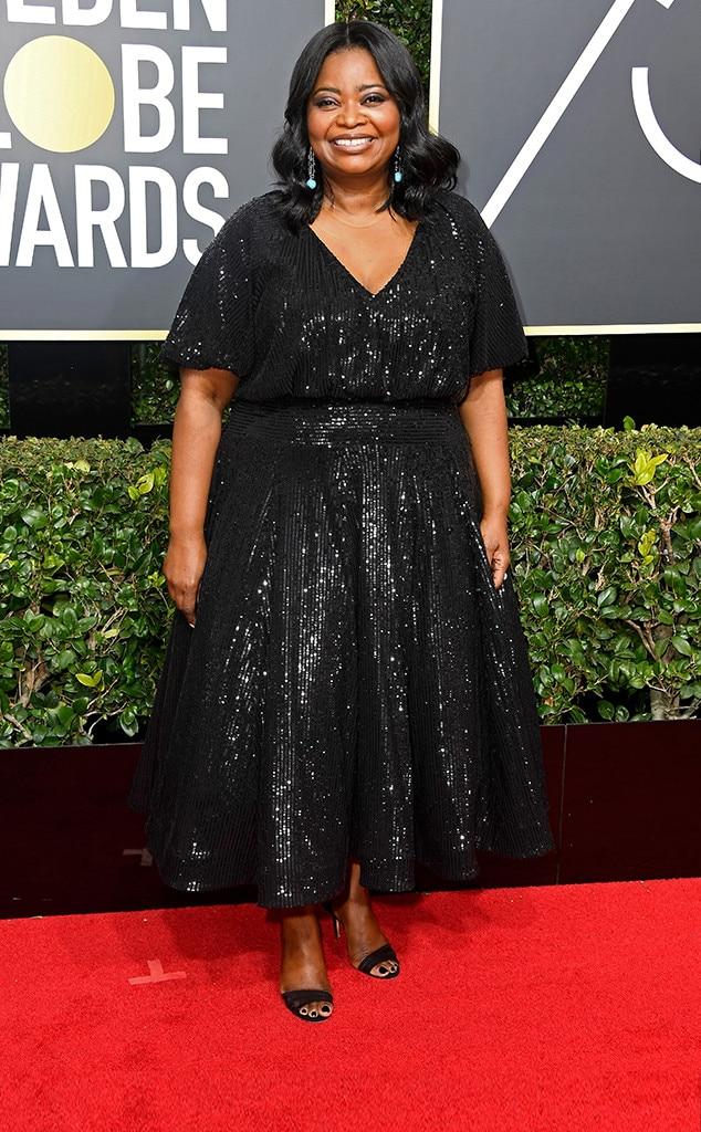 Octavia Spencer, 2018 Golden Globes, Red Carpet Fashions
