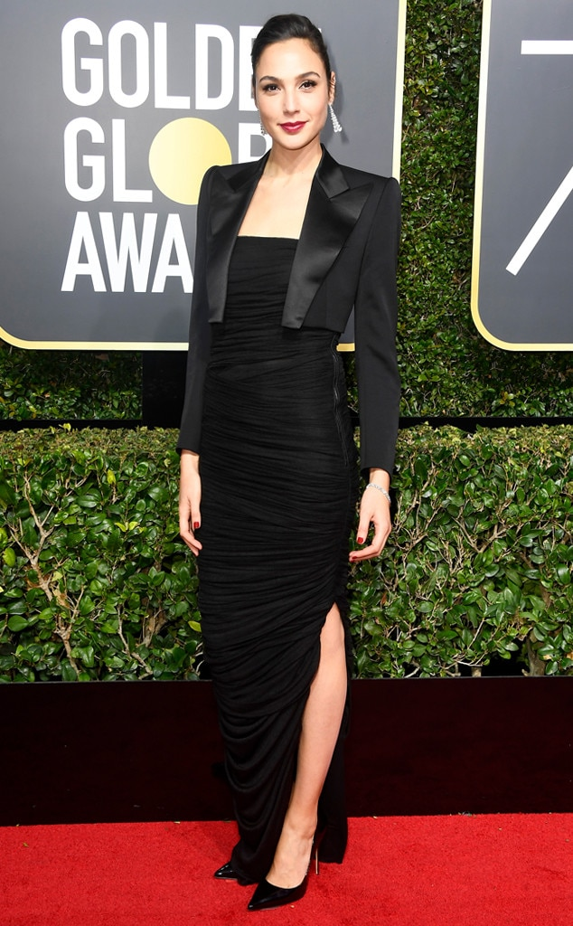 Gal Gadot, 2018 Golden Globes, Red Carpet Fashions