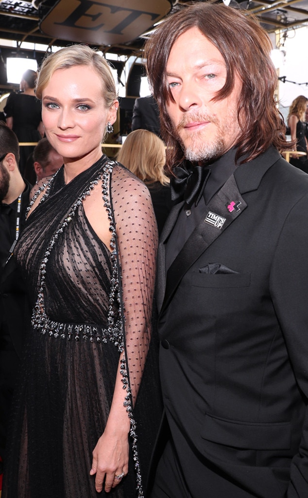Diane Kruger and Norman Reedus Make Their Red Carpet Debut As a Couple at Golden Globes