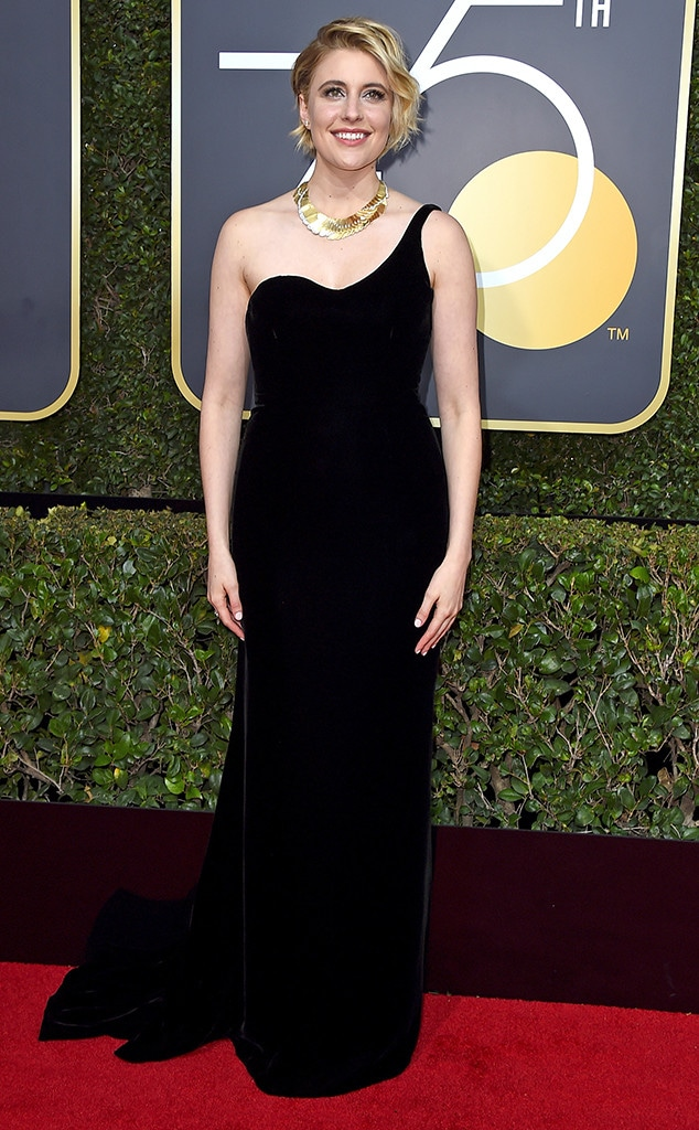 Greta Gerwig, 2018 Golden Globes, Red Carpet Fashions