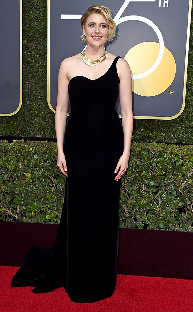 Greta Gerwig, 2018 Golden Globes, Red Carpet Fashions