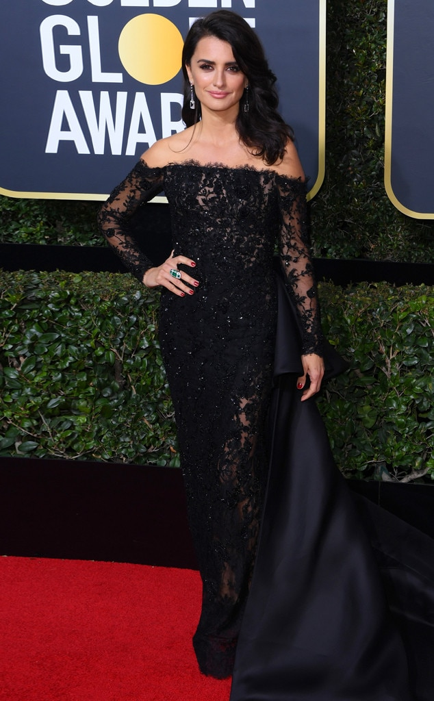 Penelope Cruz, 2018 Golden Globes, Red Carpet Fashions