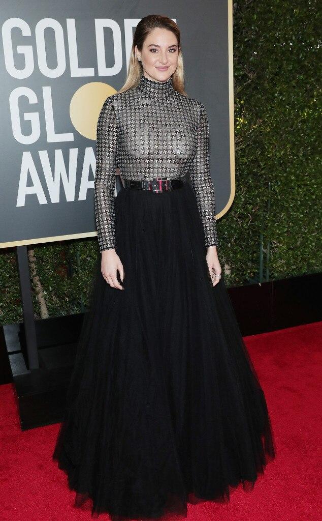 Shailene Woodley, 2018 Golden Globes, Red Carpet Fashions