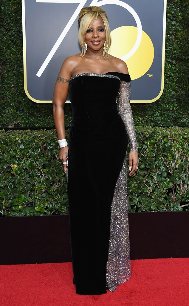 Mary J. Blige, 2018 Golden Globes, Red Carpet Fashions