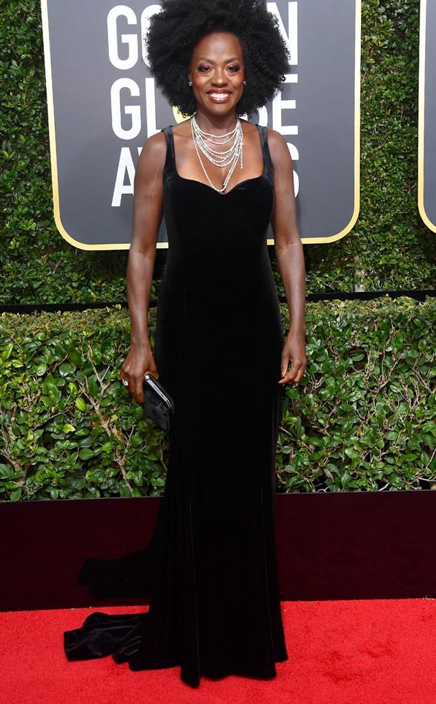 Viola Davis, 2018 Golden Globes, Red Carpet Fashions