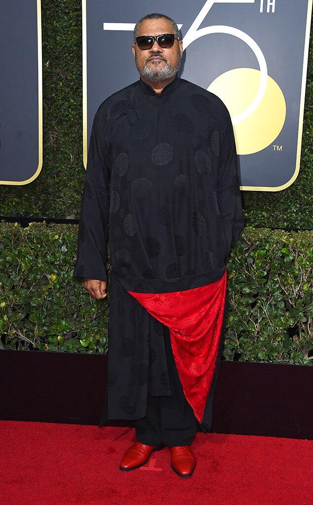 Laurence Fishburne, 2018 Golden Globes, Red Carpet Fashions