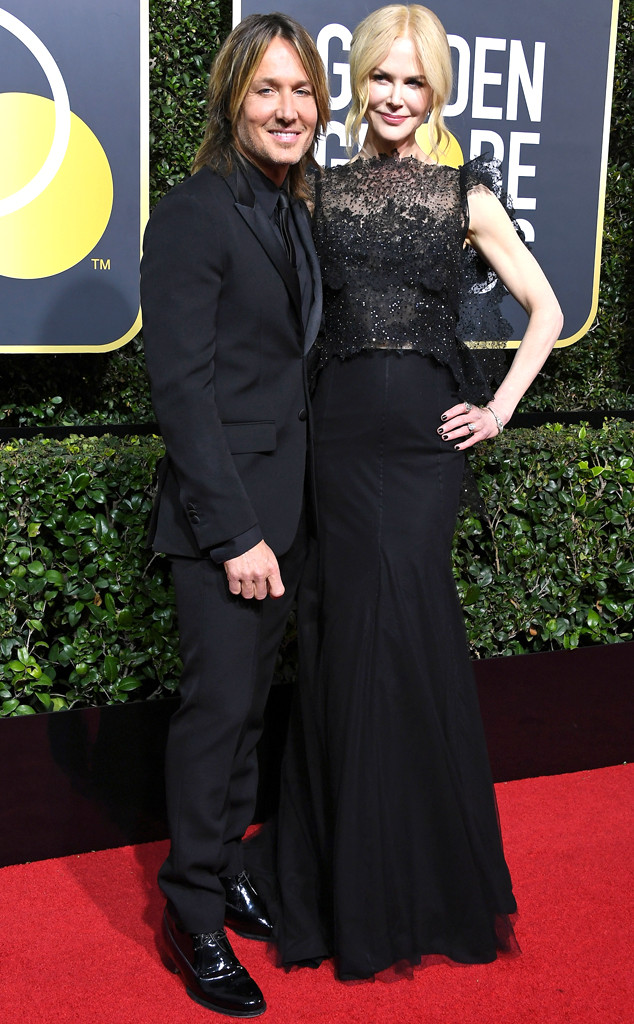 Keith Urban, Nicole Kidman, 2018 Golden Globes, Couples