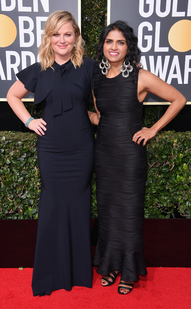Amy Poehler, Saru Jayaraman, 2018 Golden Globes