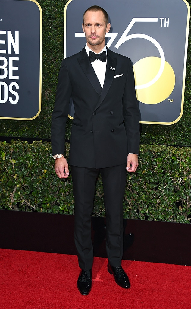 Alexander Skarsgard, 2018 Golden Globes, Red Carpet Fashions