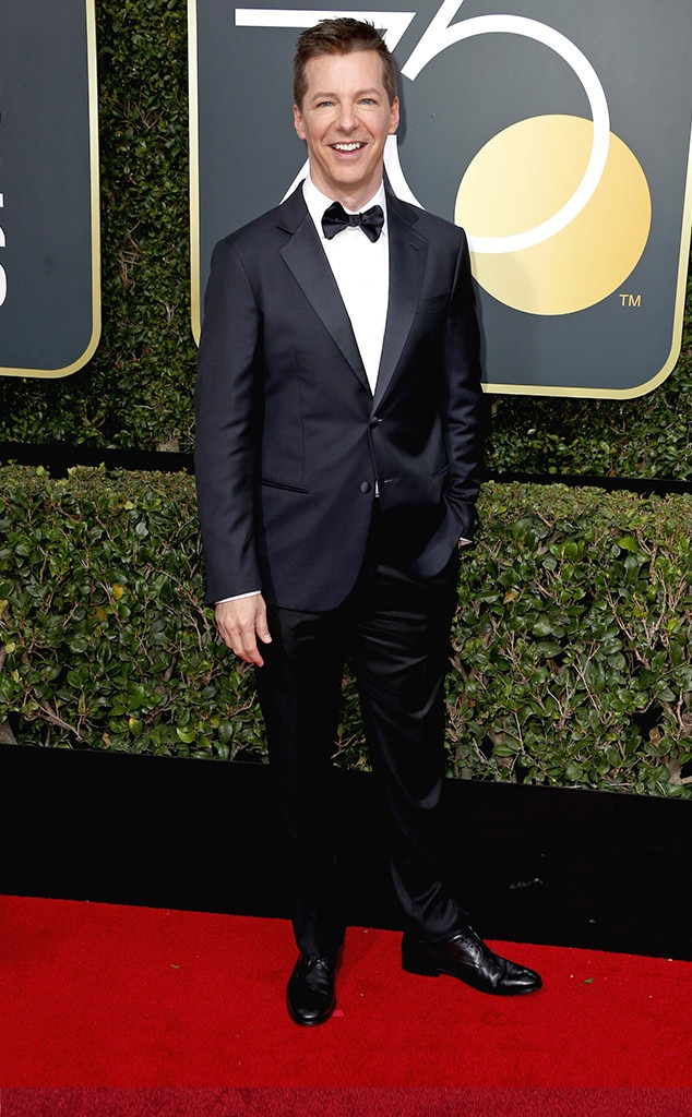 Sean Hayes, 2018 Golden Globes, Red Carpet Fashions