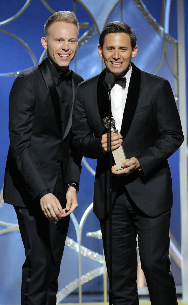 Justin Paul, Benj Pasek, 2018 Golden Globes, Winners