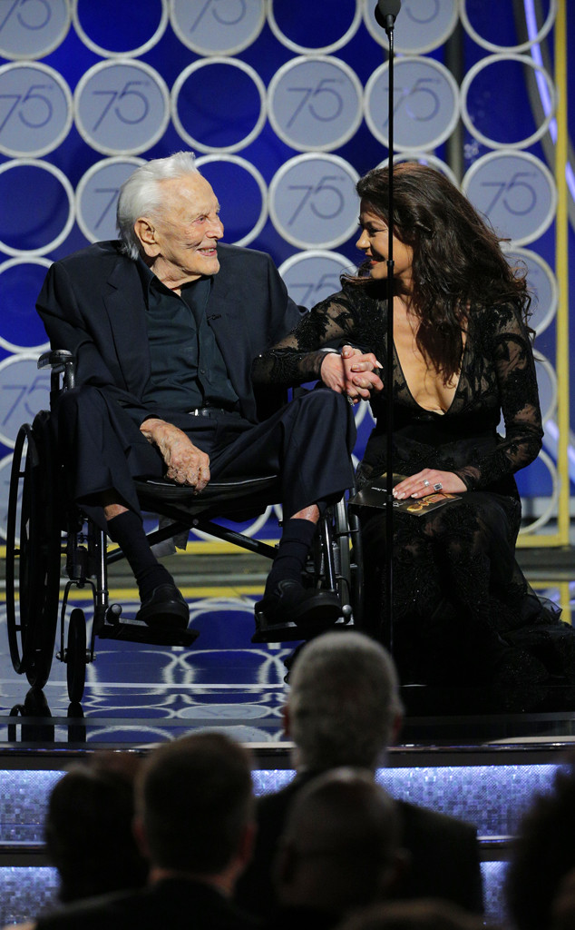 Kirk Douglas, Catherine Zeta Jones, 2018 Golden Globes
