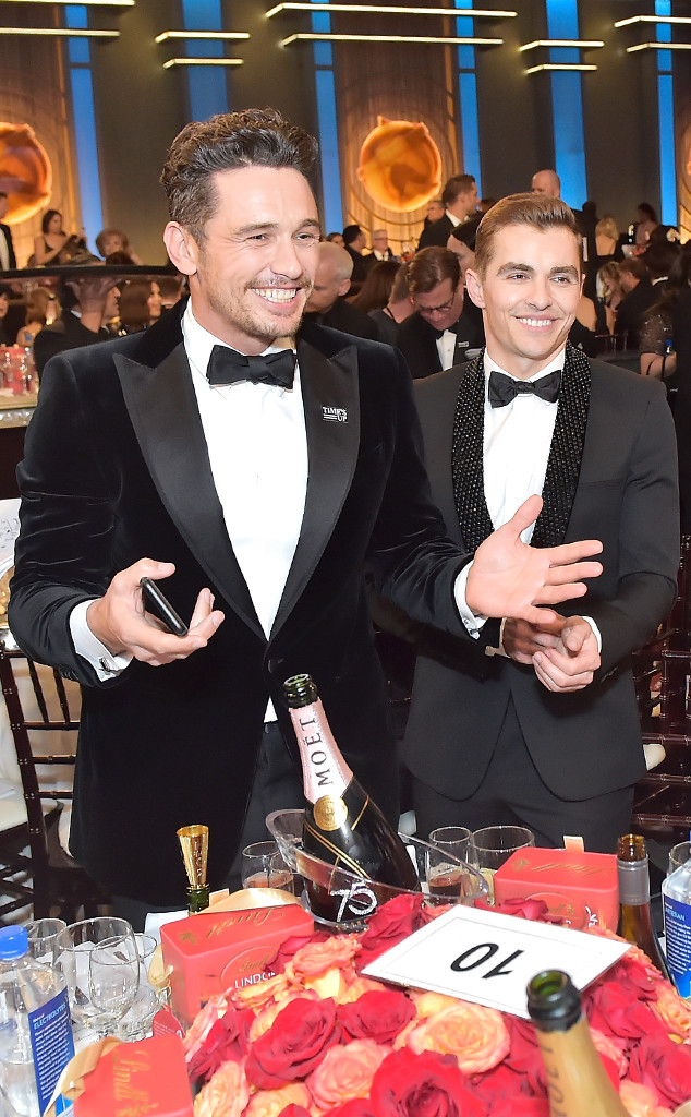 James Franco, Dave Franco, 2018 Golden Globes, Candids