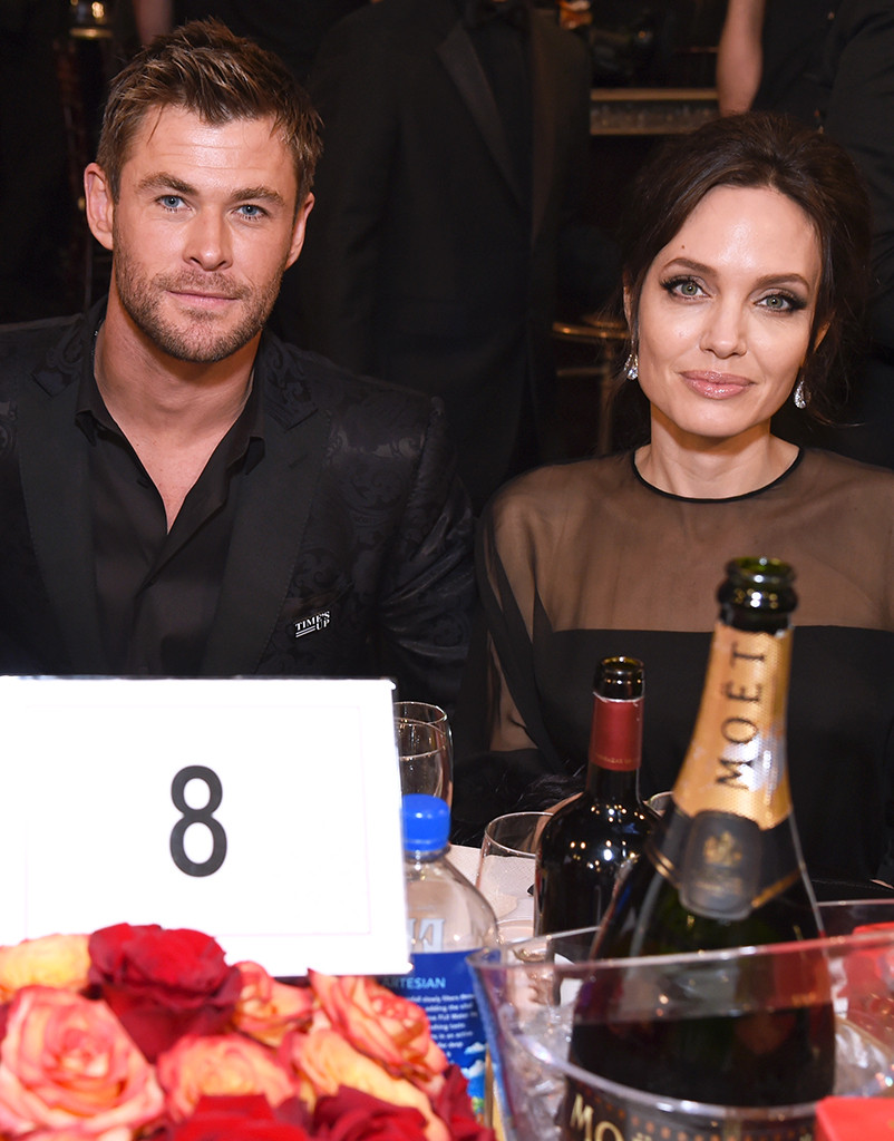 Chris Hemsworth, Angelina Jolie, 2018 Golden Globes, Candids