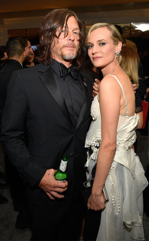 Norman Reedus, Diane Kruger, 2018 Golden Globes, Party Pics