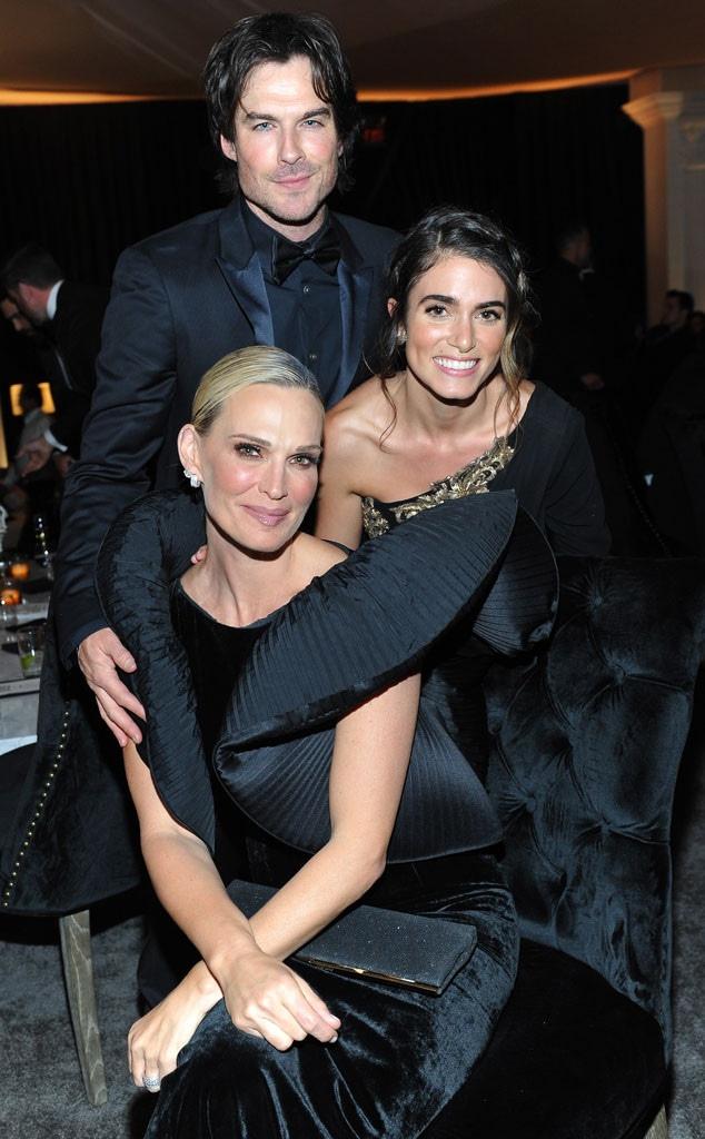 Ian Somerhalder, Nikki Reed, Molly Sims, Golden Globes, After-Party, 2018 Golden Globes