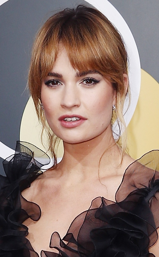 ESC: Beauty Tips, Golden Globe Awards 2018, Lily James