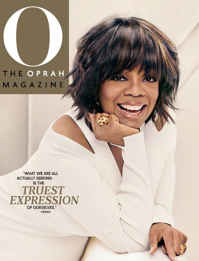 Oprah Winfrey Rocks Pink And Purple Hair On O Magazine Cover