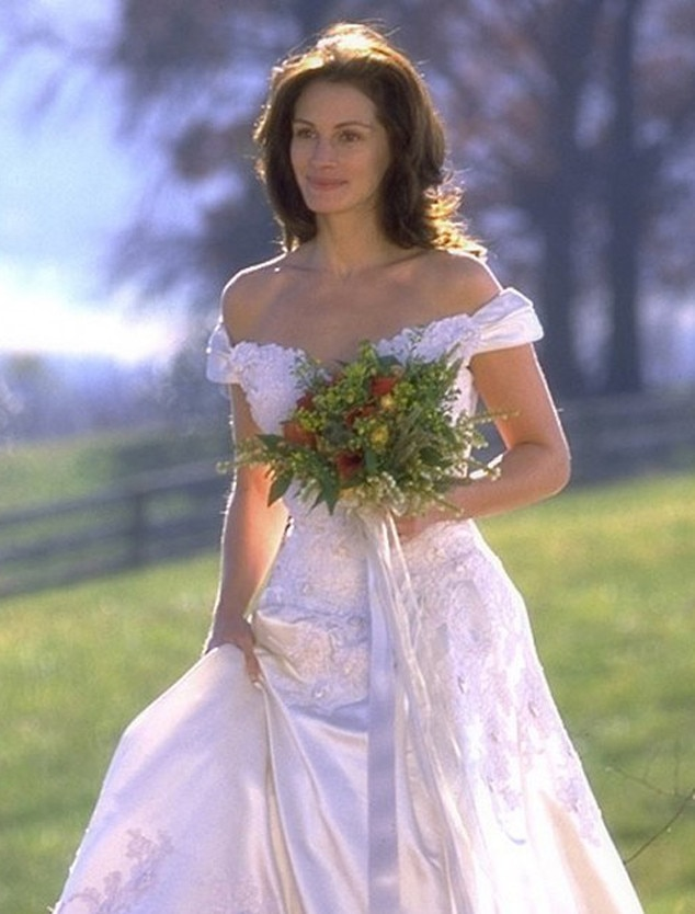 runaway bride from best movie wedding dresses of all time