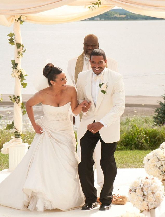 Jumping the Broom from Best Movie Wedding Dresses of All Time | E! News