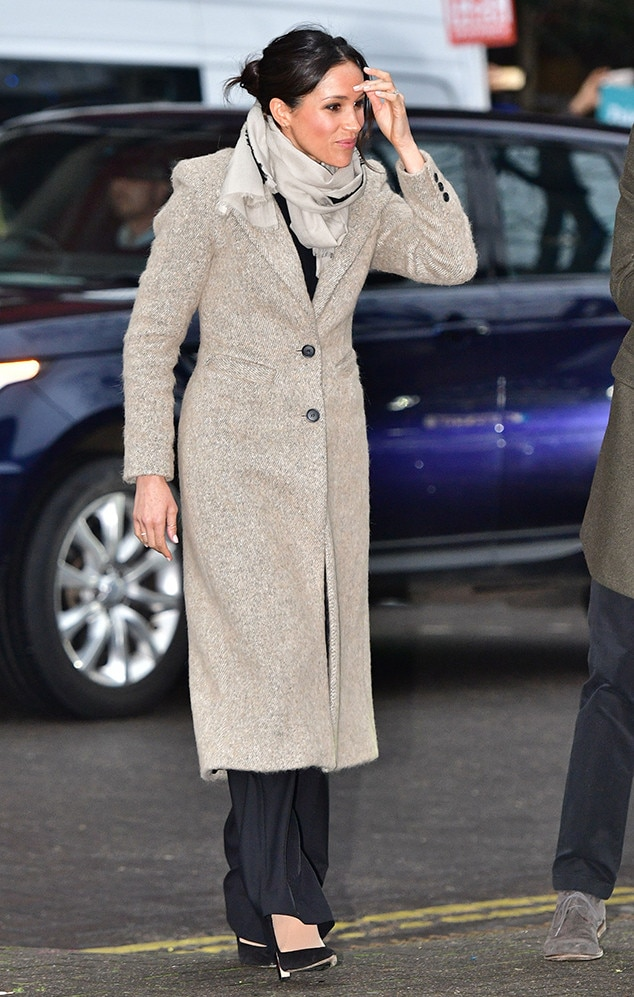 Outfit Choices -  Royal tradition dictates that the women in the family wear dresses or skirts while out in public.   Meghan cares not for this tradition .