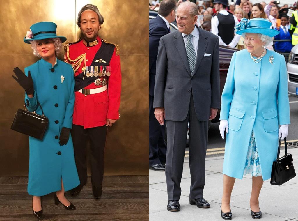 Queen Elizabeth II, Prince Philip, Chrissy Teigen, Johen Legend, Halloween