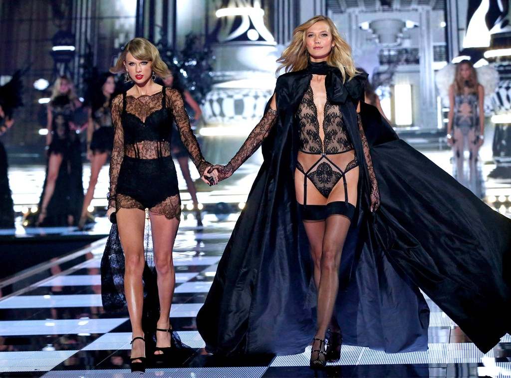 c5ab8a20e1f2 Besties Taylor Swift   Karlie Kloss Work the Runway from OMG Moments ...