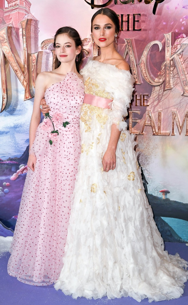 Fairytale Fashion - Mackenzie Foy  and  Keira Knightley  look likeIRL princesses in their gorgeous gowns at the London premiere of  The Nutcracker and the Four Realms .