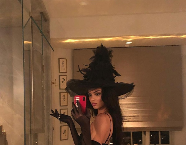 Kendall Jenner As A Witch From Stars Sexiest Halloween
