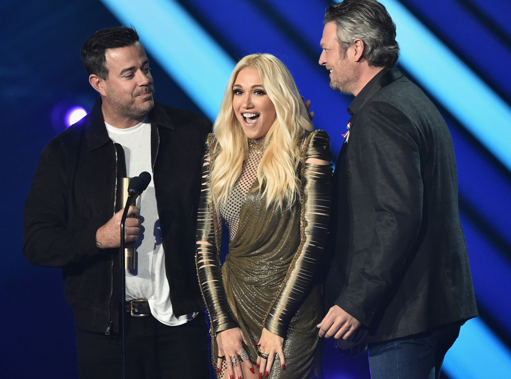 Carson Daly, Gwen Stefani, Blake Shelton, The Voice, 2018 Peoples Choice Awards, Winners