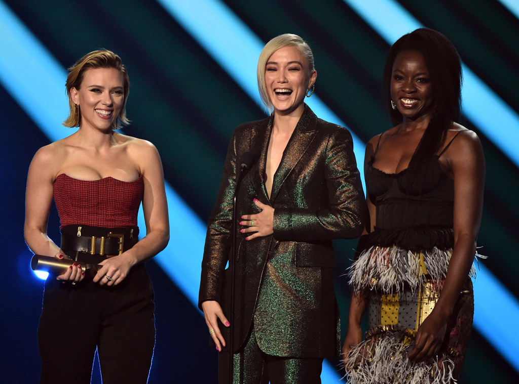 Scarlett Johansson, Pom Klementieff, Danai Gurira, 2018 Peoples Choice Awards, Winners