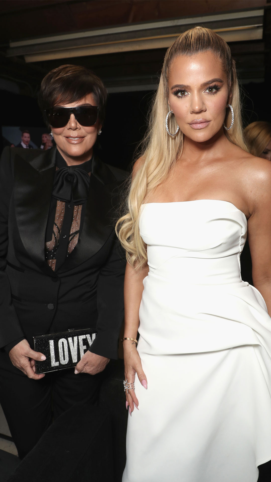 Kris Jenner, Khloe Kardashian, 2018 Peoples Choice Awards, Backstage