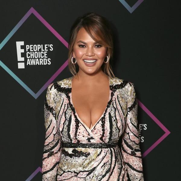 ESC:  Chrissy Teigen, 2018 E! People's Choice Awards