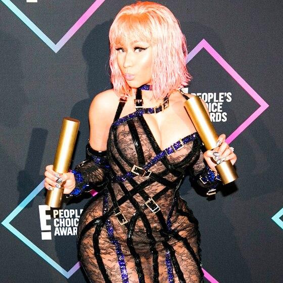 See the Original Sketch of Nicki Minaj's Stunning 2018 People's Choice Awards Versace Dress