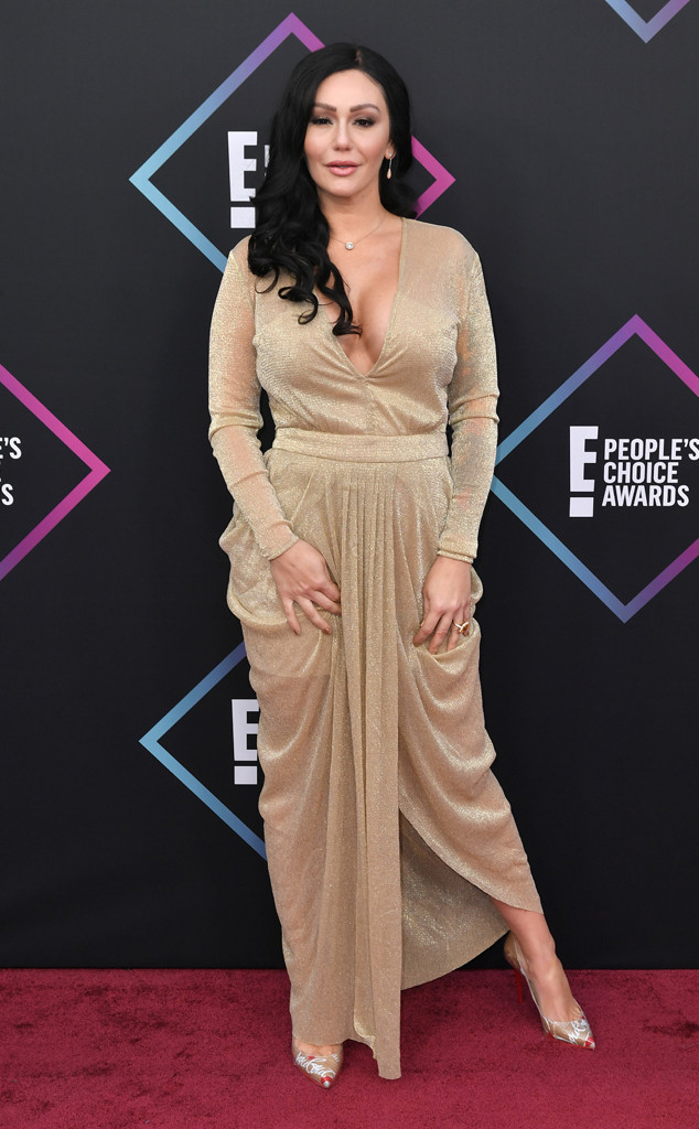 JWoww Jenni Farley, 2018 Peoples Choice Awards, PCAs, Red Carpet Fashions