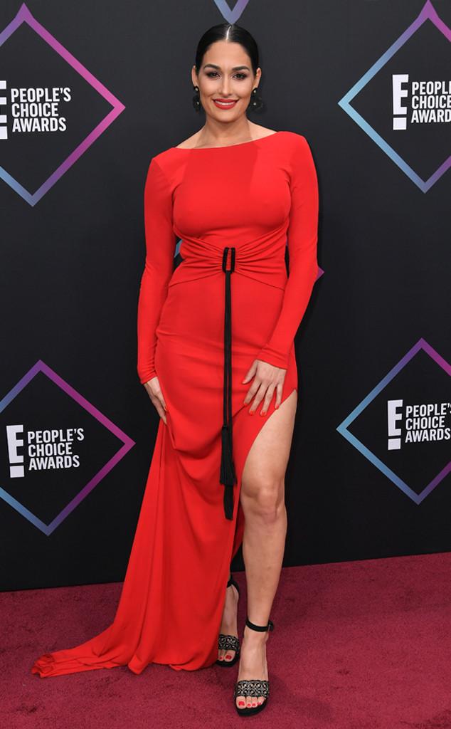 Nikki Bella, 2018 Peoples Choice Awards, PCAs, Red Carpet Fashions