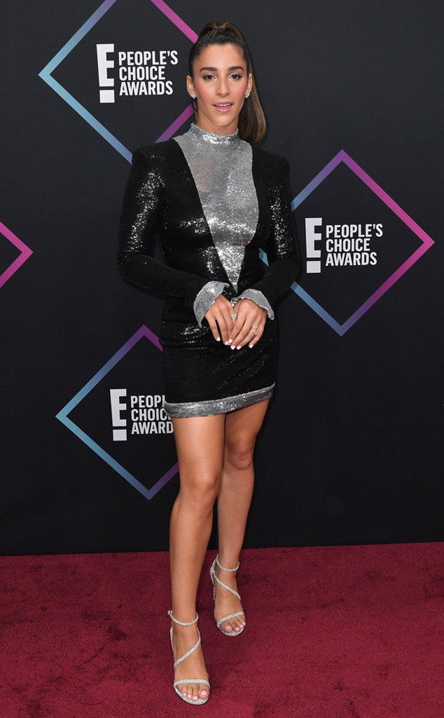 Aly Raisman, 2018 Peoples Choice Awards, PCAs, Red Carpet Fashions