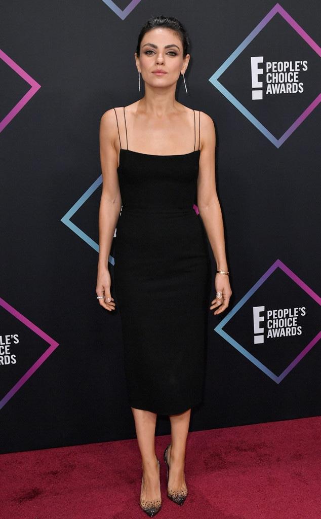 Mila Kunis, 2018 Peoples Choice Awards, PCAs, Red Carpet Fashions