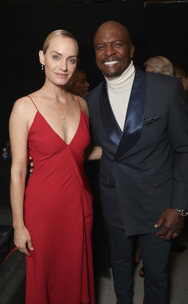 Amber Valletta & Terry Crews -  The  Brooklyn Nine-Nine  star runs into the world-famous supermodel during showtime.