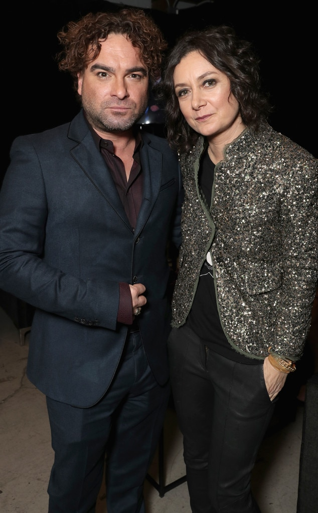 Johnny Galecki & Sara Gilbert -  Funny seeing you here! The Conners  stars meet up backstage in between presenting some of the biggest awards of the night.
