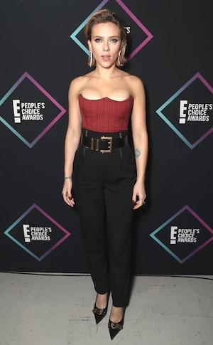 Scarlett Johansson, 2018 Peoples Choice Awards, PCAs, Red Carpet Fashions