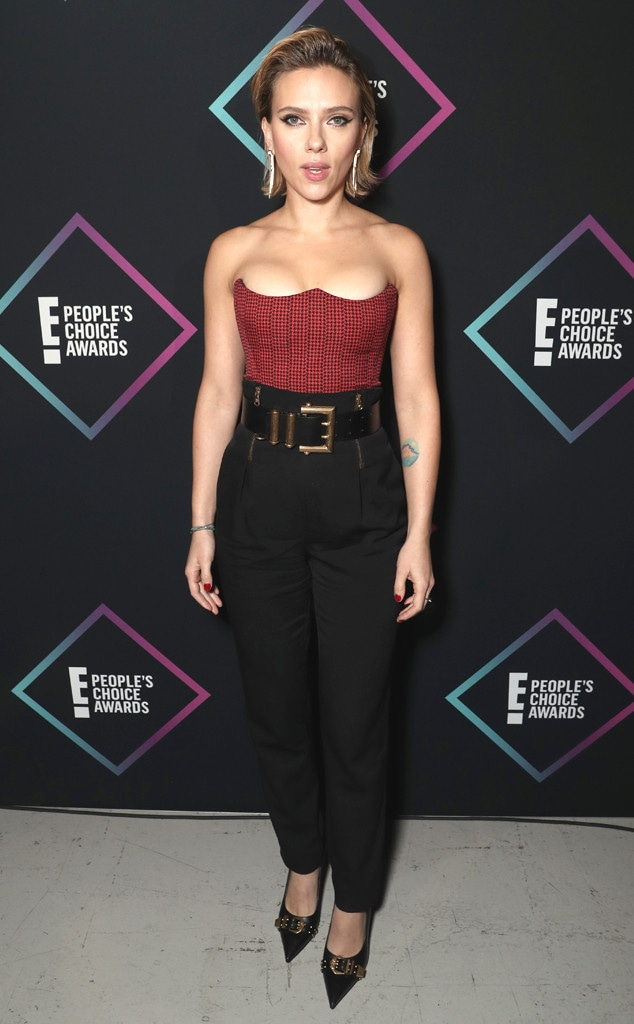 Scarlett Johansson, 2018 Peoples Choice Awards, PCAs, Red Carpet Fashions