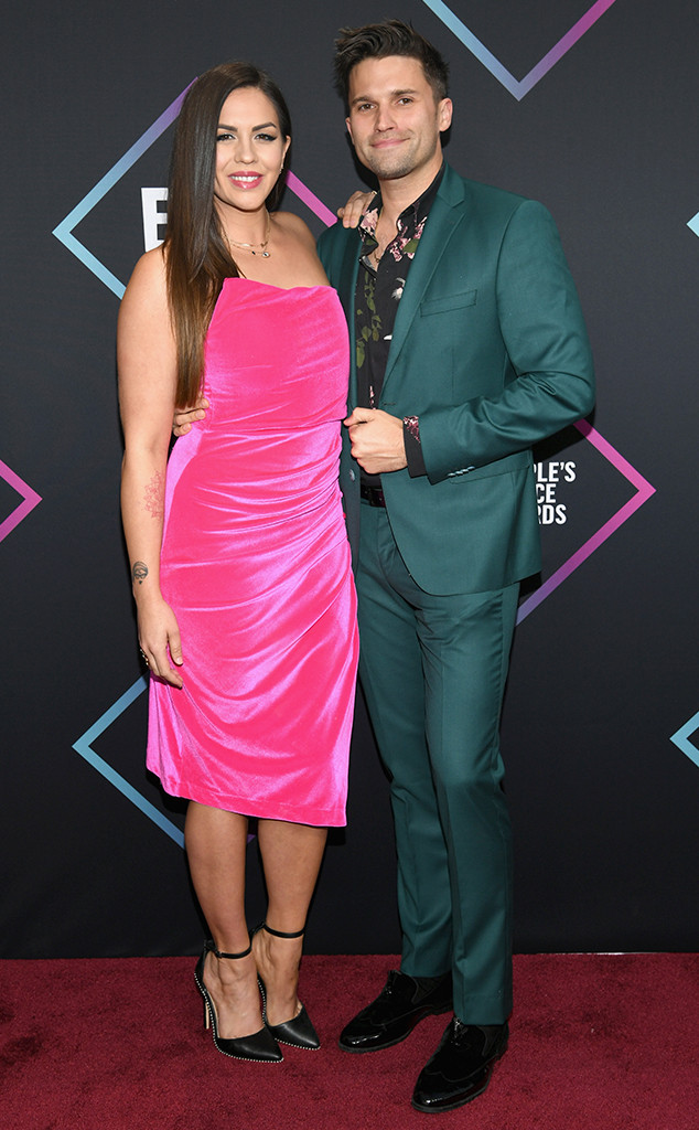 Katie Maloney, Tom Schwartz, 2018 Peoples Choice Awards, PCAs, Red Carpet Fashions