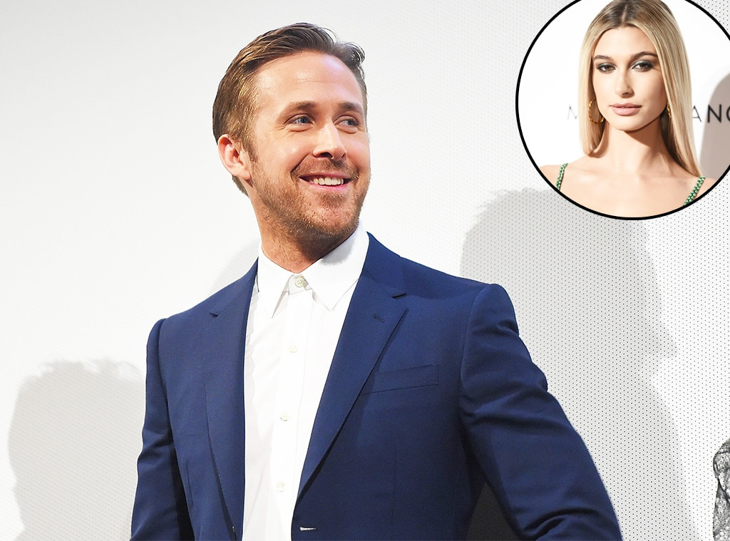 """Hailey Baldwin -  Watch out,  Justin Bieber ! The model was asked who her celebrity crush is during LOVE magazine's #LOVEFM radio call-in show this past June, where she answered, """"My celebrity crush has to be...Ryan Gosling!""""  Her crush on Gosling isn't some fleeting thing though, as she tweeted back in 2013, """"I want Ryan Gosling in anything. Any role. Anytime of the day.""""  Same, girl."""