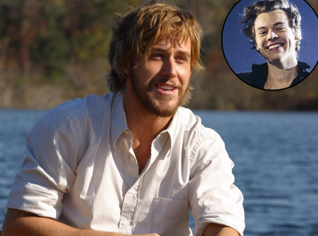 Harry Styles -  While Styles' unabashed love for  The Notebook  is  well-documented , his crush on Gosling was inadvertently revealed during a game he played on BBC Radio 1's  The Breakfast Show With Nick Grimshaw , where he was hooked up to a heart rate monitor and showed photos of celebs. Guess whose heart raced when a shirtless pic of Gosling from  The Notebook  popped up?