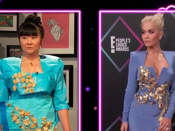 <i>Busy Tonight</i> Somehow Recreates Stylish People's Choice Awards Looks Using Only Household Items