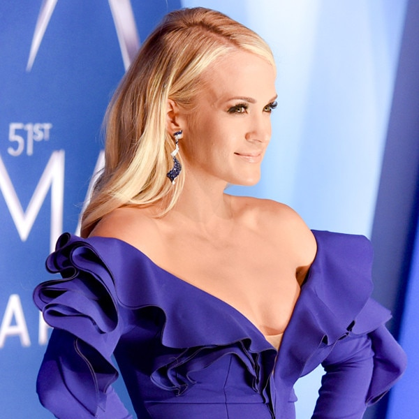 Carrie Underwood Gets Emotional During Acceptance Speech at CMA Awards