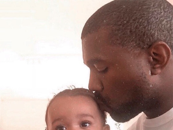 Kanye West and Baby Chicago Share Precious Daddy-Daughter Moment